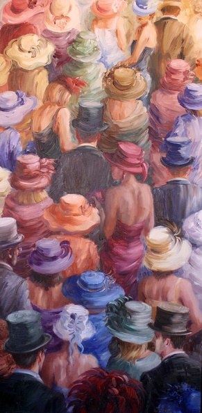 Elena_Eros_Hats in Ascot_Oil on canvas_36x18, $3.800.JPG