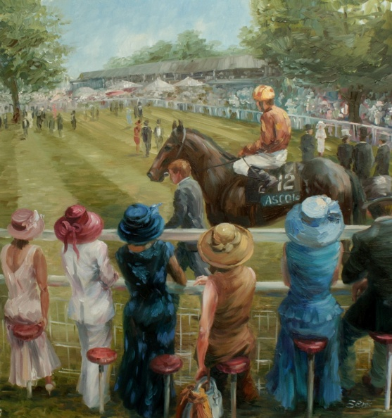 Elena_Eros_Old Ascot Paddock_Oil on canvas_Sold, Giclee $400.JPG
