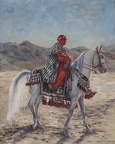 Elena Eros Desert Ride Oil on Canvas 30''23''