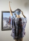"Draped Kimono with ""Red Scarf"" Painting on it"