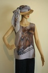"""Tender Beauty"" painting on Tank Top with a Scarf"