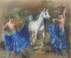 Elena Eros Blue Capriccio Oil on Canvas