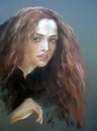 Elena Eros Irish girl, 24''x18'', Pastel on paper