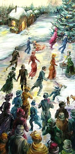 Elena_Eros_Christmas Fun, 48x24, Oil on canvas_$980.jpg