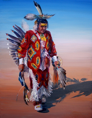 Elena_Eros_Pow Wow_Oil on canvas_20,5x16,5.jpg